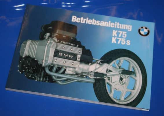 Betriebsanleitung K75-K75S deutsch -8/92 3.Auflage 2/1990