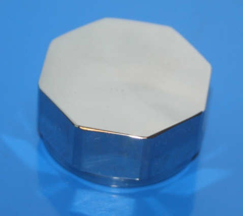 Hutmutter Stoßdämpfer R25/3 hinten 8kant VA poliert M29