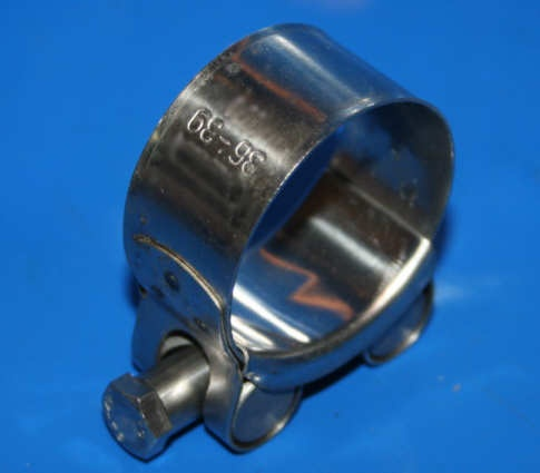 Schelle Schalldämpfer VA R45/65 VA +G/S ST 35mm Krümmer