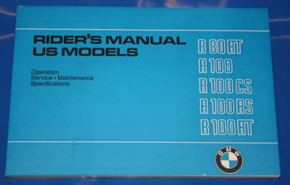 Betriebsanleitung R80/100 81-84 US english owners manual
