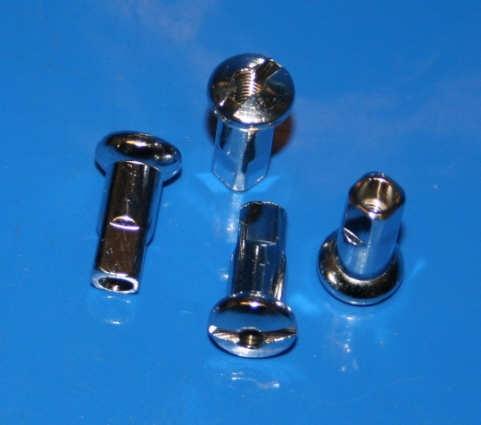 Nippel Speiche M3,5 Messing verchromt L16