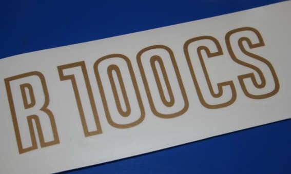 Aufkleber R100CS gold 81-84 Batterieabdeckung