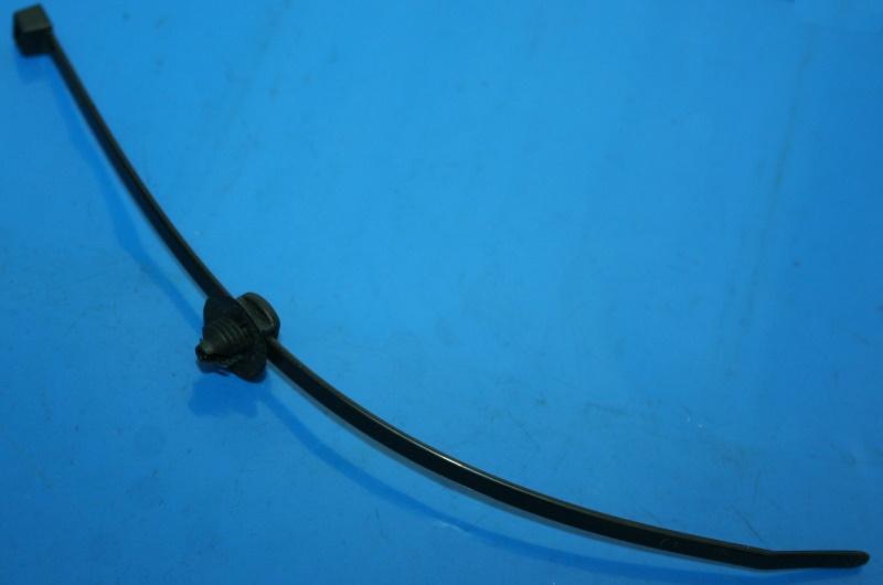 Kabelbinder 200mm schwarz mit Halter