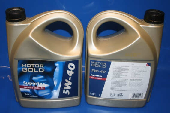 Motoröl 5W40 Supertec Motorgold synthetic in Kanister 5Liter