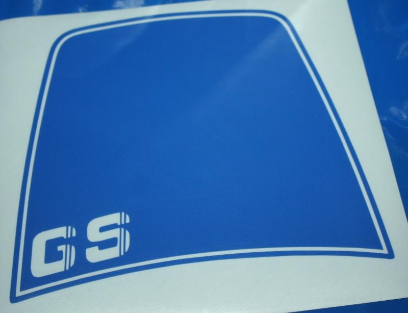 Aufkleber R80GS R100GS -90 Windschild blau +GS Basic