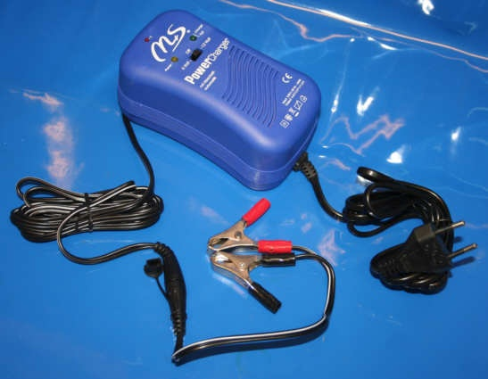 Ladegerät Batterie mit Klemmen 6V+12V 600mA