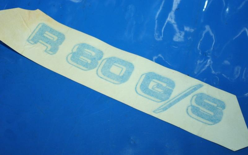 Aufkleber R80G/S rechts weiß/blau f.Batterieabdeckung 9/86-