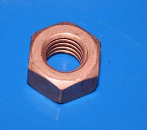 Mutter Anlasser Pluskabel M8 Kupfer /5-1995 Flachmutter
