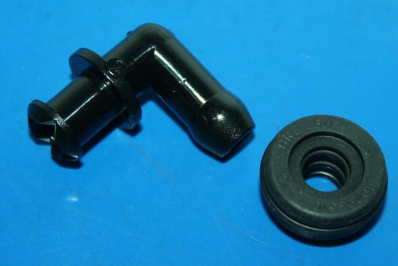 Schlauchanschluss Bremszylinder hinten 90° m.Gummi