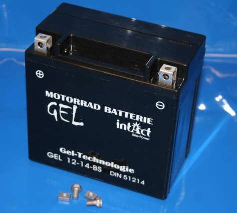 Batterie 12V12AH Gel Wartungsfrei Plus rechts F800 K1200S
