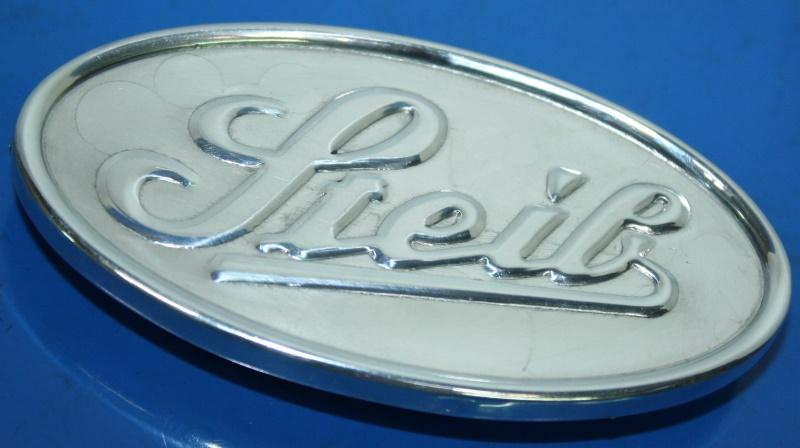 Emblem Steib LS200 oval zum anschrauben Boot vorn rechts