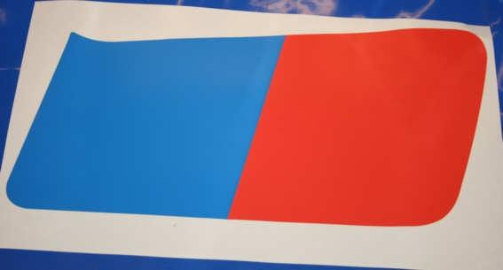 Aufkleber R80G/S Blau/rot re. Tank 18l