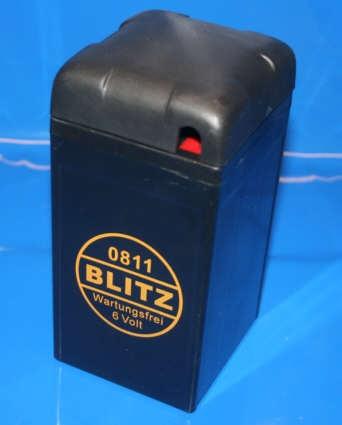 Batterie 6V 12AH GEL schwarz mit Deckel R25 + R50-69S