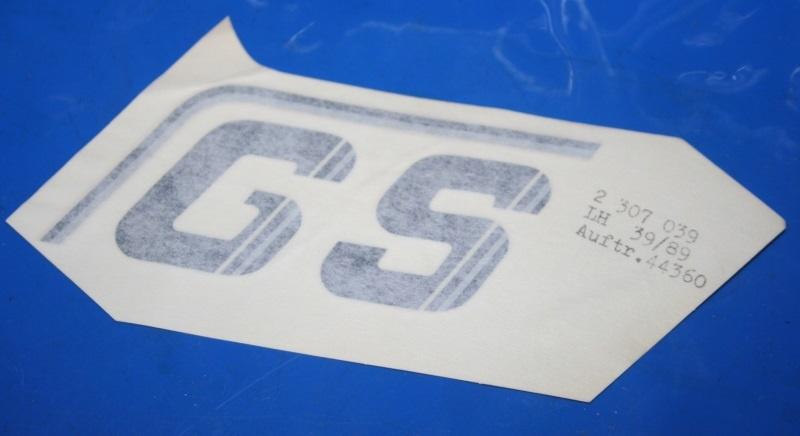 Aufkleber R80GS -90 sw/si links f. Batterieabdeckung