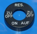 Kappe Benzinhahn Karcoma AUF/RES/ZU