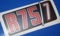 Aufkleber R75/7 silber/rot f.Batterieabdeckung
