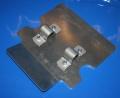 Schutzplatte R80GS R100GS am Ständer mit Anbauteilen